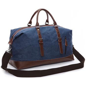 2020 Canvas Leather Men Travel Bags Carry on Luggage Bag Men Duffel Bags Travel Tote Large Weekend Bag Overnight Male Handbag