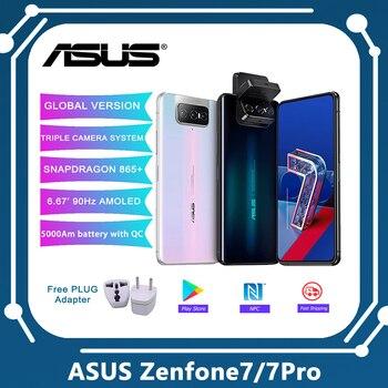 Перейти на Алиэкспресс и купить ASUS Zenfone 7/7 Pro глобальная Версия 8 Гб Оперативная память 128 г/256 ГБ Встроенная память Snapdragon 865/865 плюс 5000 мАч NFC Android Q 90 Гц 5G подзарядки смартфонов