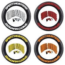 8 Uds. De pegatinas para neumáticos de coche, pegatinas con letras modificadas para neumáticos de caucho elevado de alta calidad