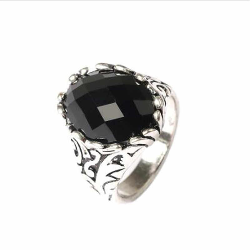 Sitaicery с большим черным камнем, мужское кольцо, античное золото, мозаика, кристалл, турецкое ювелирное изделие, винтажное Помолвочное кольцо, пара колец, аксессуары