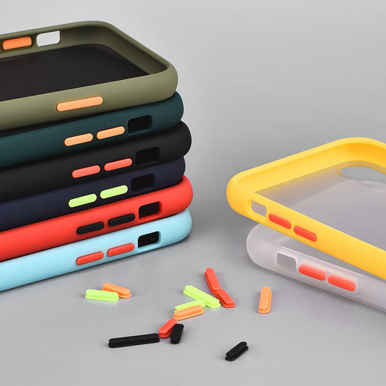 Çıkarılabilir mat silikon darbeye dayanıklı tampon telefon kılıfı için iPhone11 Pro Max 10 X XR XS sert PC iPhone 8 7 6 6S artı kapak