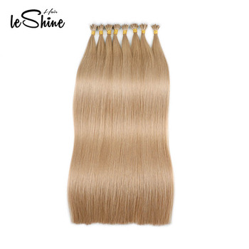 Leshine Remy Hair Nano Ring Extensions  Human Hair Extension Salon Natural Hair Micro Ring Hair Double Drawn Straight Hair 20""