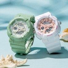 Big Sale Women Sport Fashion Watch Soft Rubber Strap Waterproof Lady Digital Wristwatch Girls Casual Clock Teen Time Junior Hour
