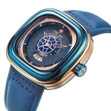 купить Top Luxury Brand New Relogio masculino Fashion Trend Mens Watches Rectangular Dial Leathre Wristwatch Quartz Watch reloj hombre по цене 1477.83 рублей