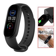 Bracelet connecté M5pro, Bluetooth, étanche IP67, capteur d'activité physique avec suivi du rythme cardiaque et du taux d'oxygène dans le sang, nouveau modèle de 2021