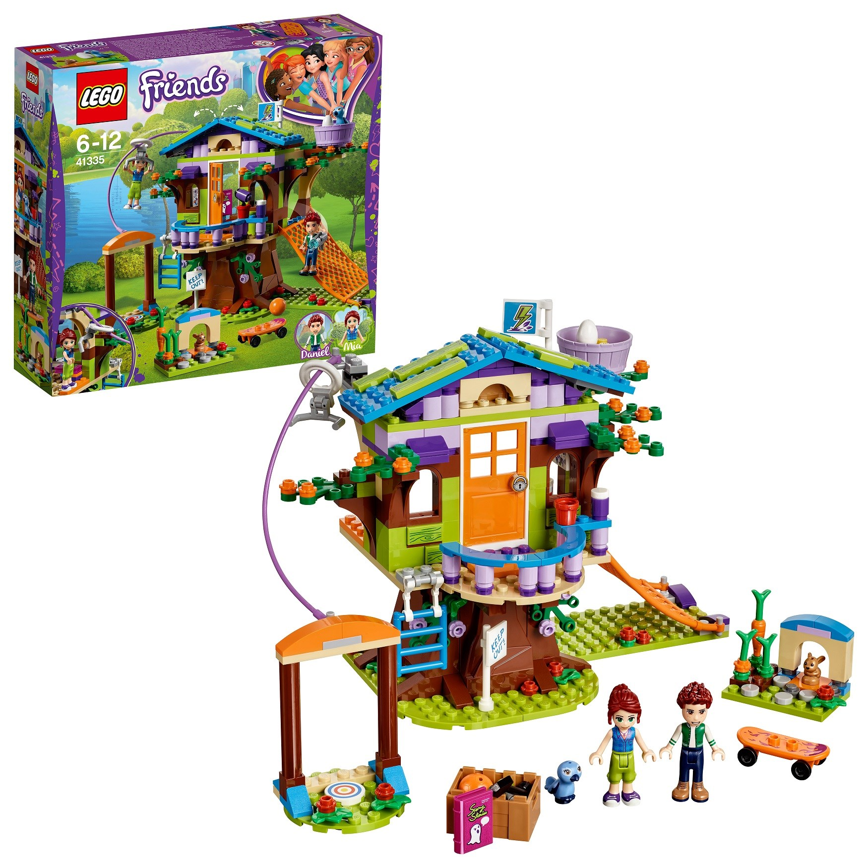 Designer Lego Friends 41335 Mia House On A Tree
