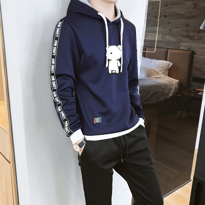 Hoodie Men's Spring And Autumn Hooded MEN'S Hoodie Autumn Clothing Set Sports Clothing Two-Piece Casual Sports Set Men's