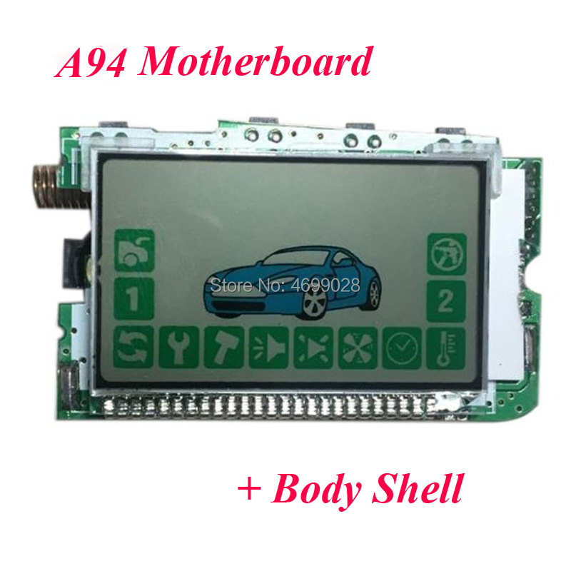 A94 LCD Remote Control + Gift Silicone Case for Starline a94 car alarm system