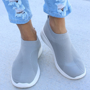 Women Flat Slip on White Shoes Woman Lightweight White Sneakers Summer Autumn Casual Chaussures Femme Basket Flats Shoes 2