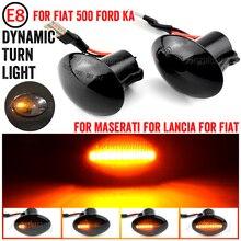 Sequentielle Dynamische LED Seite Marker Blinker Licht Für FIAT 4S 63 3P NUOVA 500 ABARTH Ford KA DESDE Lancia YPSILON Maserati