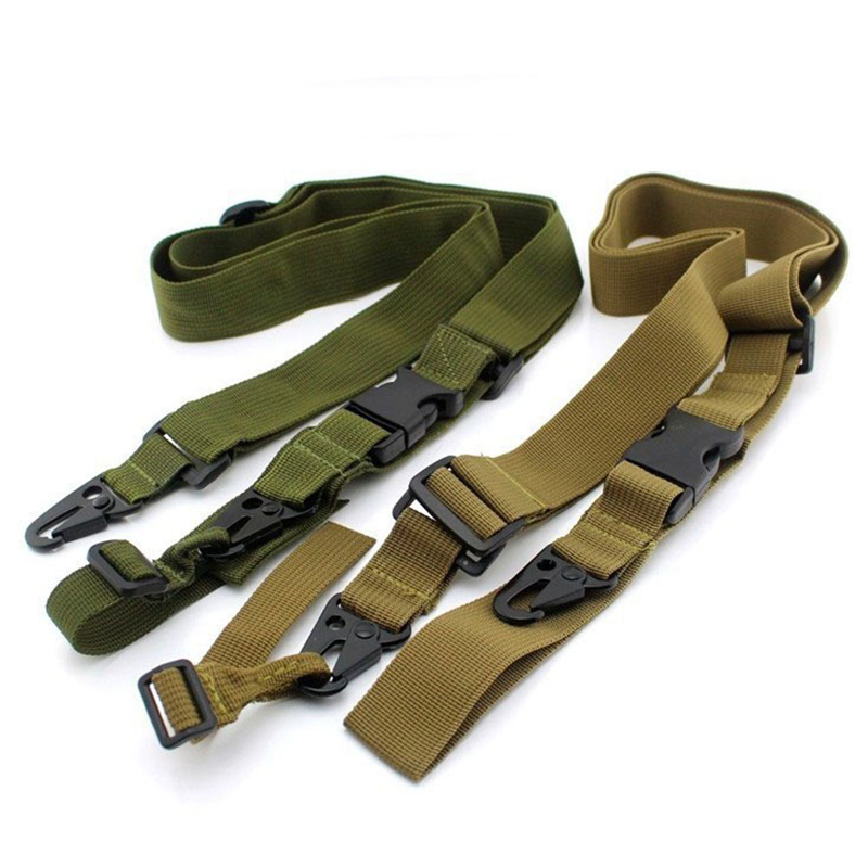Three Point Multi-mission Gun Sling Bungee Rifle Sling Quick Detach QD Nylon Strap Adjustable Belt Rope