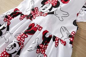 Платье для девочек; Новые платья для малышей; Платье-пачка для дня рождения с рисунком Минни; Летняя одежда для маленьких девочек; Одежда для девочек