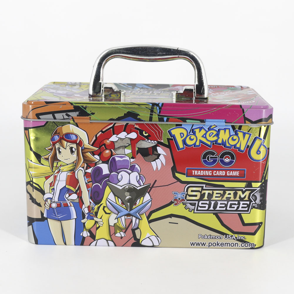 Takara Tomy Portable Big Pokemon Card Metal Box Table Card Game MEGA Trainer Energy Collections Board Cards Toys 153cards