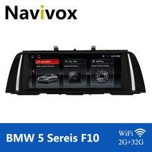 Multimédia do carro de navivox android 10.0 para bmw série 5 f10 f11 f18 2010-2016 cic nbt carro dvd gps reprodutor de rádio bmw f10 android dvd