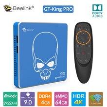 2020 מקורי Beelink GT מלך פרו אנדרואיד 9.0 טלוויזיה תיבת 4G + 64G Amlogic S922X H 2.4G + 5.8G WIFI Hi Fi Lossless קול עם Dolby אודיו