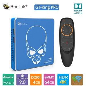 2020 Original Beelink GT rey Pro Android 9,0 caja de TV 4G + 64G Amlogic S922X-H 2,4G + 5,8G WIFI de alta fidelidad de sonido sin pérdidas con Audio Dolby Audio