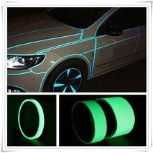 Автомобиль для безопасности в ночное время, авто лента светящаяся Наклейка для Toyota 4runner Sienna Sequoia Prius гр Camry i-трил каботажное судно highlander