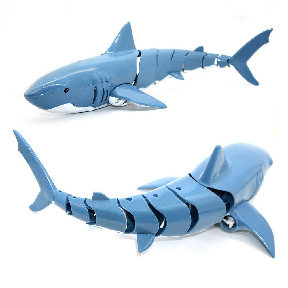Simulación eléctrica, pez RC Shark a prueba de agua, 2,4G, 20 minutos de batería de larga duración, natación de agua de verano, juguetes para niños pequeños, regalo