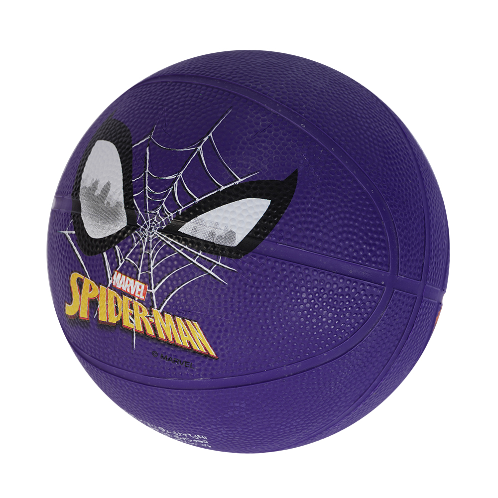 Mini Basketball Size 1# Spider Man Rubber Basketball Purple High Bounce For Kids