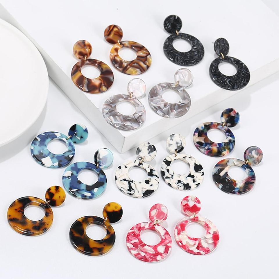 Women Vintage Earring Hollow Crystal Tassel Dangle Stud Earrings