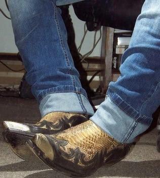 Black Gold Luxury High Quality Leather Chelsea Boots  Male Boot Zapatos De Hombre Fashion Shoes Men D346