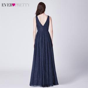 Image 2 - Étincelle robes de bal longue jamais jolie a ligne Double col en v sans manches pas cher en mousseline de soie robes formelles robes de soirée élégantes robes