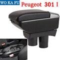 Для Peugeot 301 mirage подлокотник Универсальный Автомобильный Центральный пульт caja аксессуары для модификации двойной приподнятый с USB