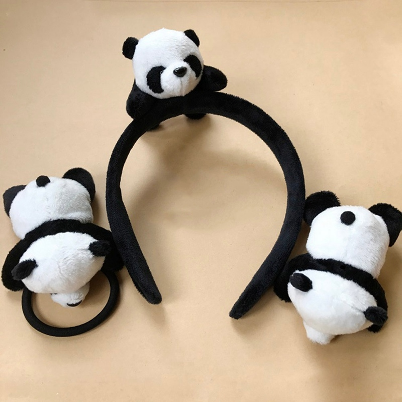 New Little Plush Toys For Hair Band Hair Tie Kid's Party Gift Panda Plush Stuffed Toys Girl Hair Accessories