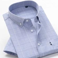 Рубашка мужская с коротким рукавом, хлопок, блуза в клетку, в повседневном и деловом стиле, большие размеры 5XL 6XL 7XL 8XL 9XL 10XL, лето 2021