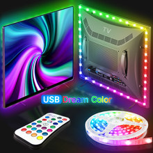 USB LED Strip Lights WS2811 Dream Color 5M 10M 15M 20M SMD 5050 RGB Ribbon Lights Flexible LED Lamp Tape TV BackLight Diode Tape