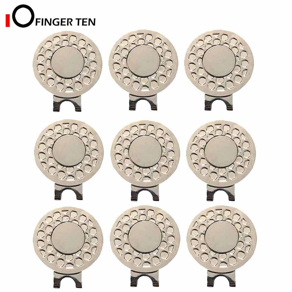 Silver Durable Removable Magnetic Golf Ball Marker Hat Clip Value 6/9 Pack Set Attaches Easily To Hats Caps Belt