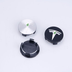 Image 4 - Para tesla model 3 s x roda de aço inoxidável centro tampões hub capa logotipo emblema 4 peças