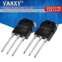 10PCS 5pairs 2SC5198 2SA1941 TO3P (5PCS A1941 + 5PCS C5198) TO 3P 트랜지스터 원래 정통