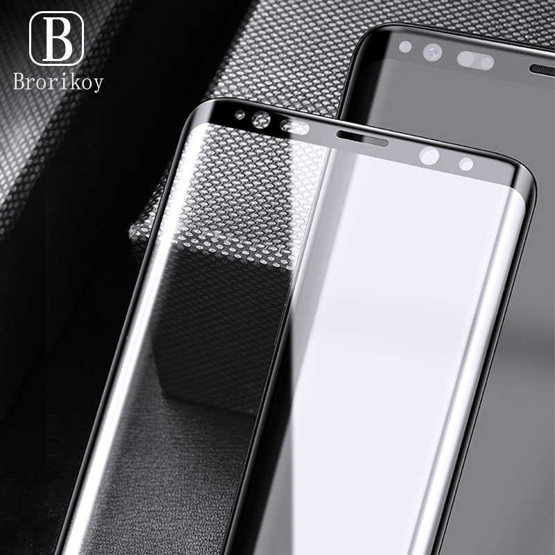 Full Curved Cover Screen Protector for Samsung S20 Ultra S10 S9 S8 Plus Tempered Glass Screen Film for Galaxy Note 10 10+ 9 8