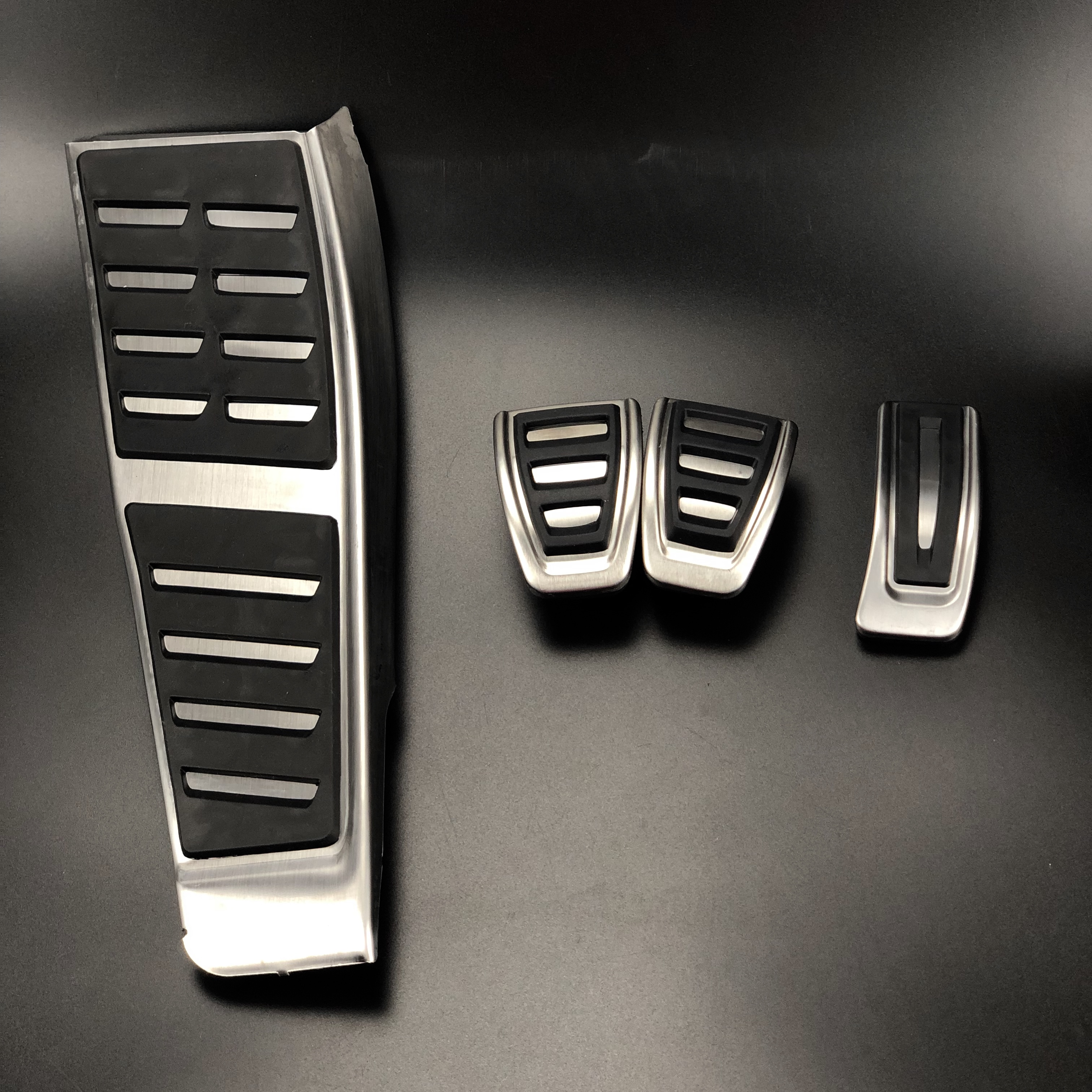 Cubierta de reposapiés para frenos de combustible de Gas RHD, embellecedor de almohadilla AT & MT para Audi A5 B8 2007-2015 A4 B8 8 8K Q5 8R, Kit de tapa de Pedal