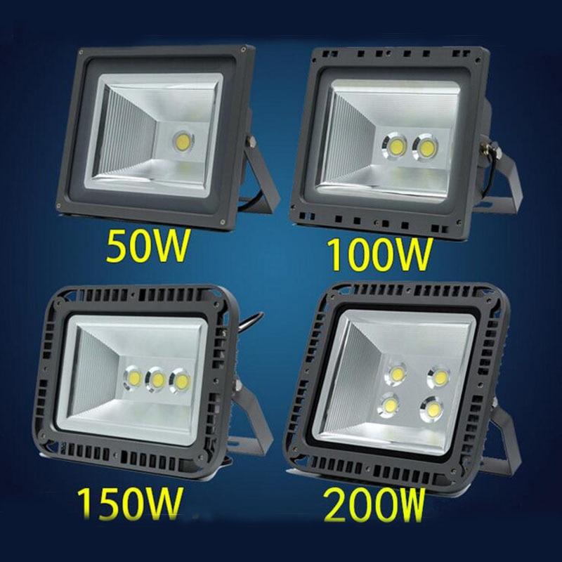 4pcs/lot COB Waterproof LED Flood Lights 100W 150W 200W Outdoor Flood Lamps 230V 240V 110V 220V Spotlight Home Garden Light
