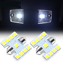 Комплект из 2 предметов C5W Автомобильный светодиодный настольная лампа светильник для Audi A6 C5 C6 C7 A3 8P 8V A4 B5 B6 B7 B8 A5 A7 A8 Q3 Q5 Q7 TT R8
