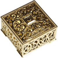 Hot XD 100Pcs Luxury Golden Square Candy Box Treasure Chest Wedding Favor Box Party Supplies