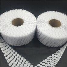 100 пар точечных наклеек волшебная лента нейлон крюк и петля лента гибкий клей на самоклеящаяся boob лента