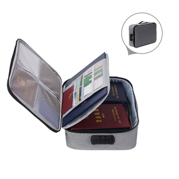 JULY'S SONG Document Ticket Bag Large Capacity Certificates Files Organizer For Home Travel Use To Store Important Items