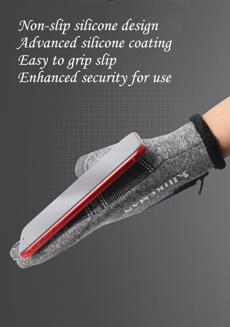 CUHAKCI Waterproof and Windproof Touch Screen Gloves for Men and Women Suitable for Operating All Touch Screen Devices during Winter 19
