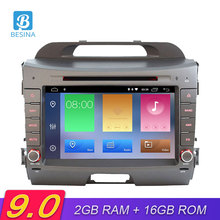 Besina Android 9.0 Car DVD Player For KIA Sportage 2010-2018 Multimedia GPS Navigation Stereo 2Din Car Radio WIFI Video Headunit