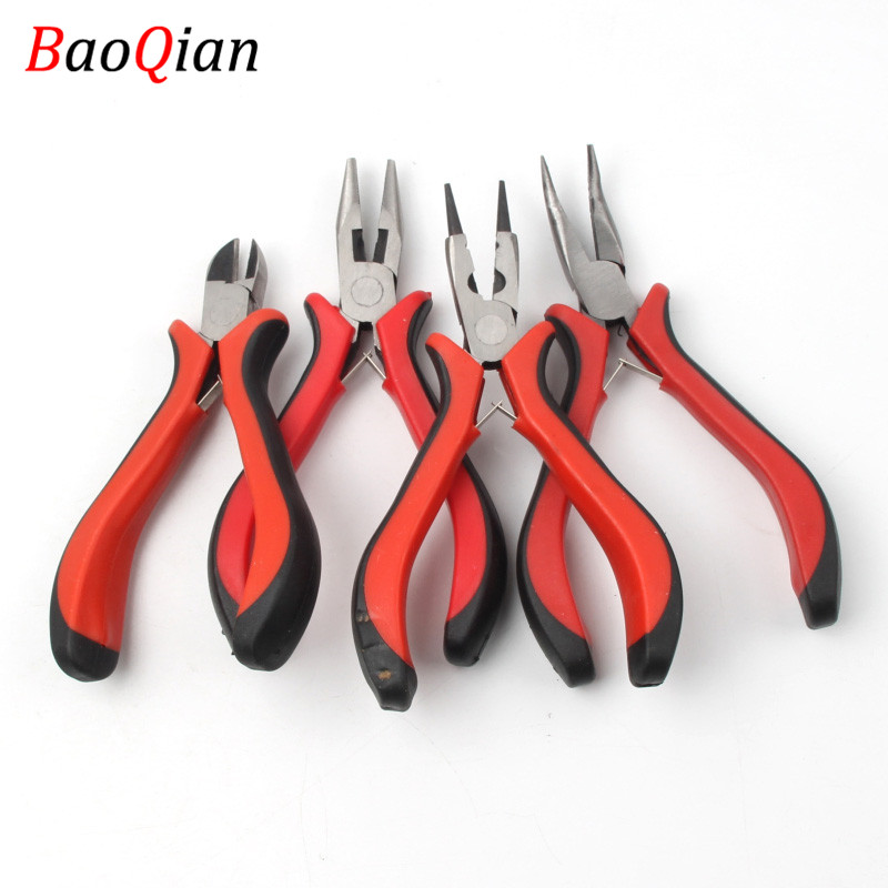 1 PCS 12 Different Styles Of Red Handle Pliers For Jewelry Maintenance DIY Creative Jewelry Accessories Tools Pliers