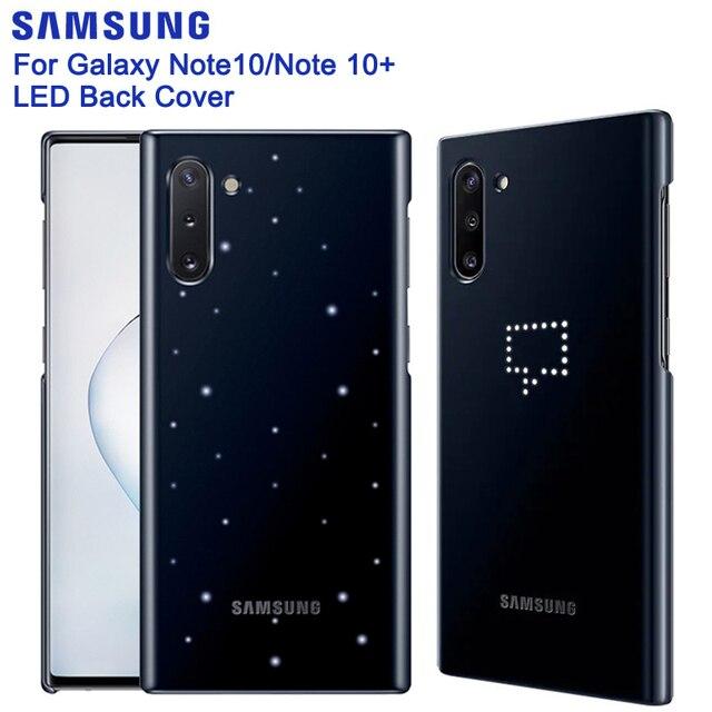 SAMSUNG Original Intelligente LED Zurück Fall für Samsung Galaxy Note10 Hinweis 10 5G NoteX Hinweis X Note10 PLUS 5G Fest Telefon Abdeckung
