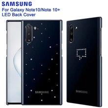 サムスンオリジナルインテリジェントledバックケース三星銀河Note10注10 5グラムnotex注 × Note10プラス5グラムハード電話カバー