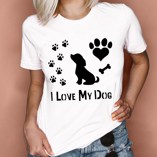 I Love My Dog Womens T-Shirt 1