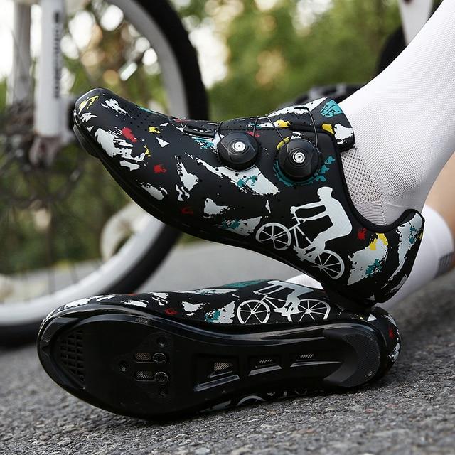 Sapatos de bicicleta de estrada novos sapatos de ciclismo homens esporte profissional zapatillas ciclismo mtb calçado de montanha auto-bloqueio tênis de bicicleta 6