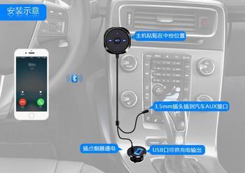 HiMISS samochodowy Bluetooth odbiornik Audio Bluetooth AUX bezprzewodowe zestawy głośnomówiące samochodowe Stereo tanie i dobre opinie CN (pochodzenie) Głośniki Black