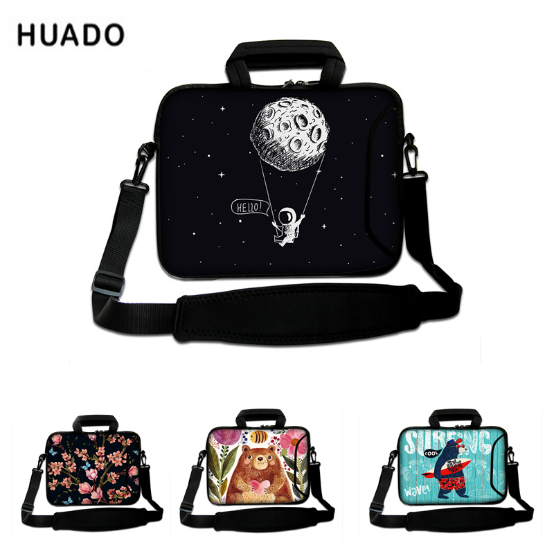 Neoprene laptop shoulders bag for macbook air/pro/hp/<font><b>asus</b></font>/xiaomi air 13.3 10 14 <font><b>15</b></font> <font><b>15</b></font>.6 17 image