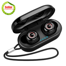 Buy TWS Mini Headphone Bluetooth 5.0 Hanging Rope Touch Control IPX7 Water-Proof Dual Microphone 3D Stereo Earphone Wireless Earbuds directly from merchant!